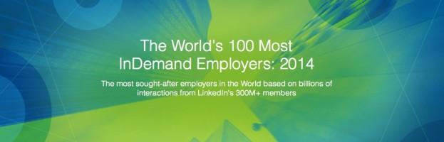 As 100 empresas mais desejadas para se trabalhar